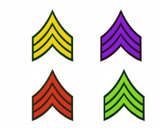 Army Stripes Machine Embroidery Design