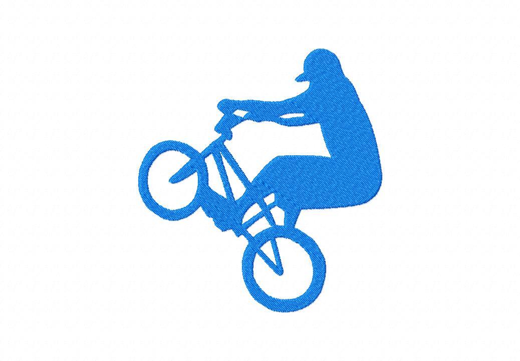 BMX Rider Machine Embroidery Design