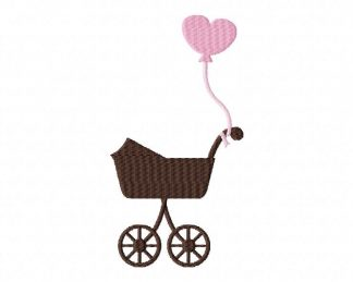 Baby Carriage Machine Embroidery Design