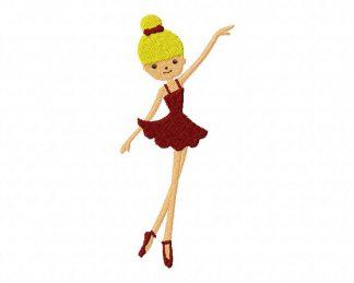 Little Ballerina Machine Embroidery Design