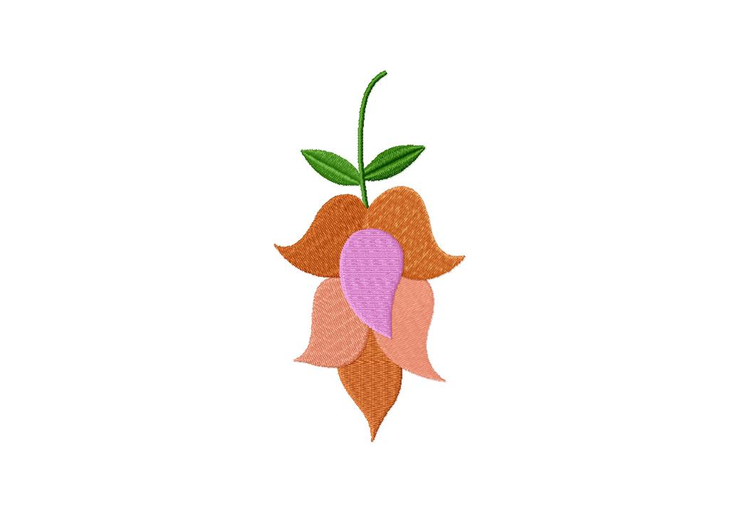 Beauty Bell Flower Machine Embroidery Design