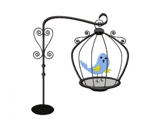 Fancy Bird in Cage Design