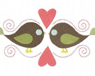 Bird Love Machine Embroidery Design