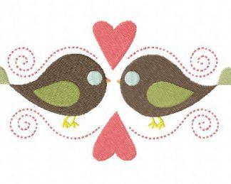 Bird Love Machine Embroidery Design