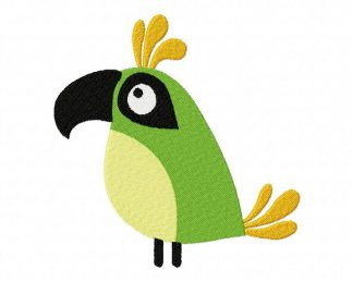 Fun Time Bird Machine Embroidery Design