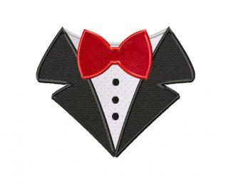 Bow Tie Shirt Machine Applique Design