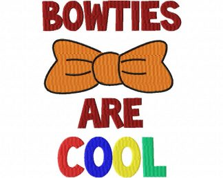 Bowties Are Cool Machine Embroidery Design