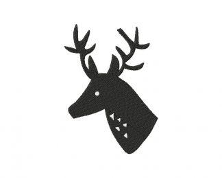 Shadow Buck Bust Machine Embroidery Design