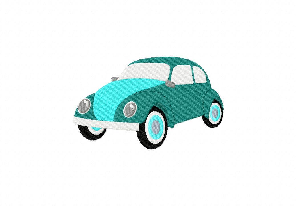 Classic Bug Car Machine Embroidery Design