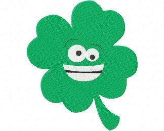 Smiling Clover Machine Embroidery Design