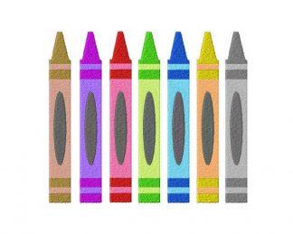 Crayon Machine Embroidery Design