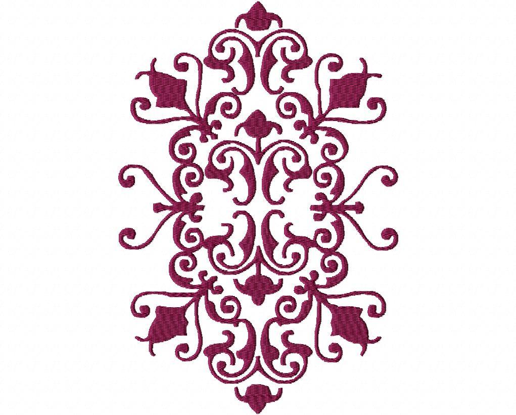 Decorative Machine Embroidery Design Pattern