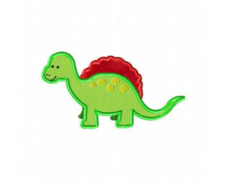 Dinosaur Machine Embroidery Design Includes Both Applique and Fill Stitch
