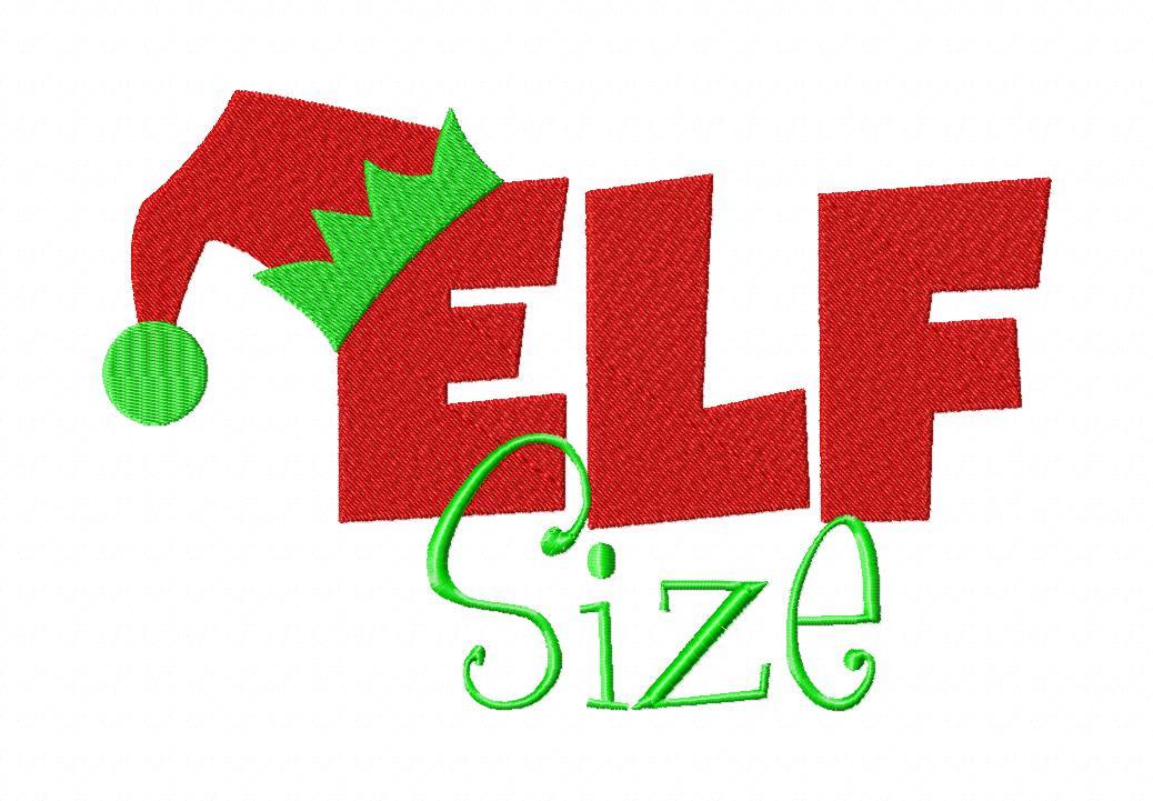 Elf Size Machine Embroidery Design