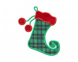 Machine Applique Elf Stocking