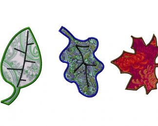 Machine Applique Fall Leaves Three Pack