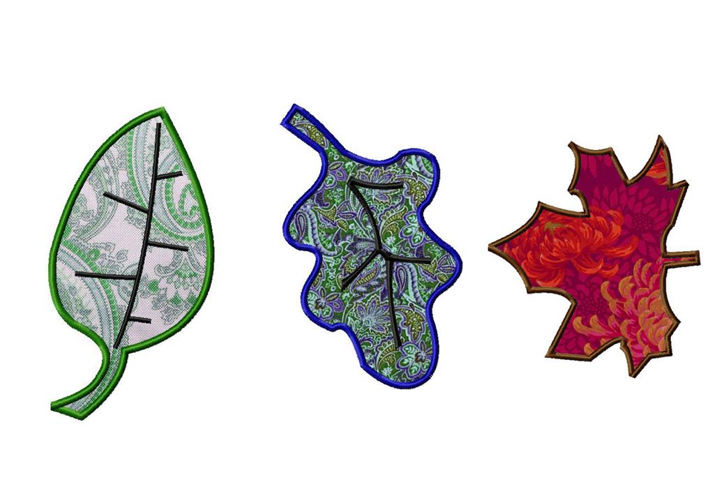 Machine Applique Fall Leaves Three Pack