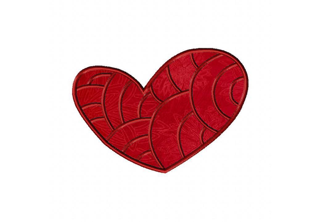 Fancy Heart Machine Applique Design