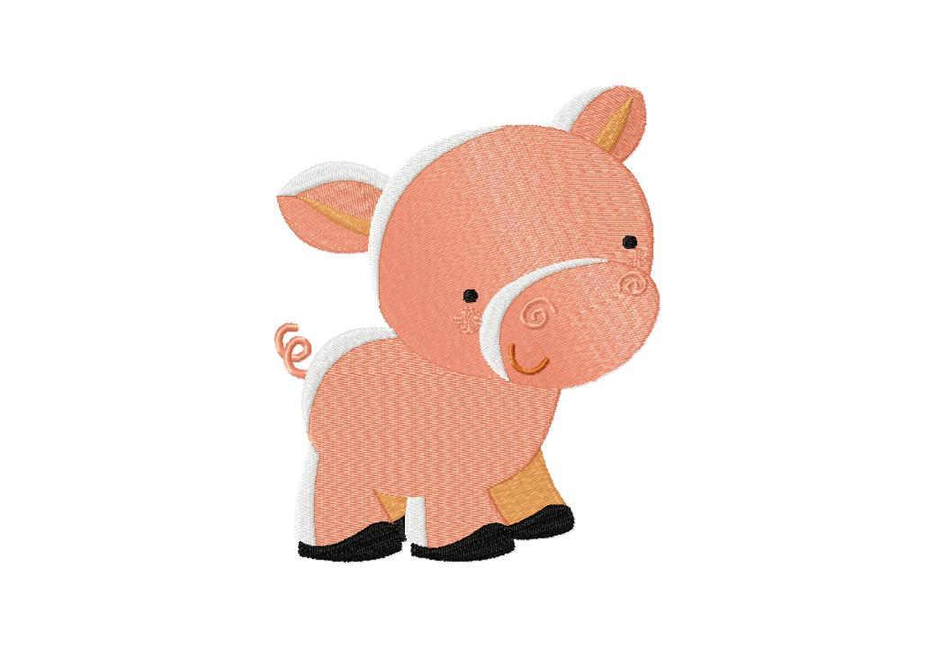 Farm Piggy Machine Embroidery Design