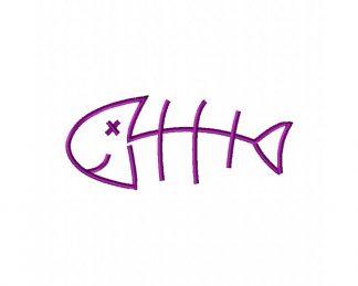 Fish Bones Machine Embroidery Design