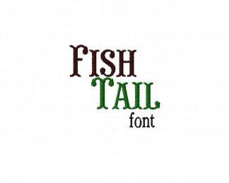 Fish Tail Machine Embroidery Font Set