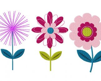 Flower Three Pack Machine Embroidery Designs
