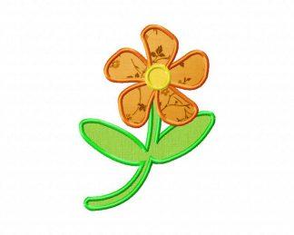 Machine Applique Petals Flower Design