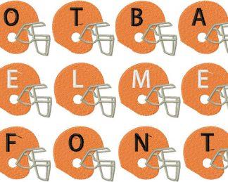 Football Helmets Monogramming Machine Embroidery Font Set