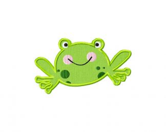 Frog Machine Embroidery Includes Both Applique and Fill Stitch