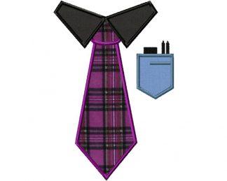 Geek Tie Machine Applique Design