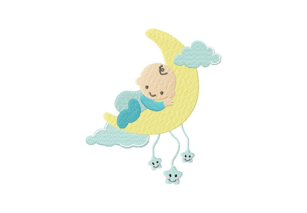 Goodnight Baby Machine Embroidery Design