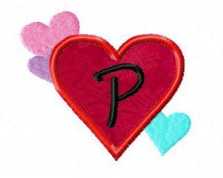 Heart Frames Machine Embroidery Applique Font Set