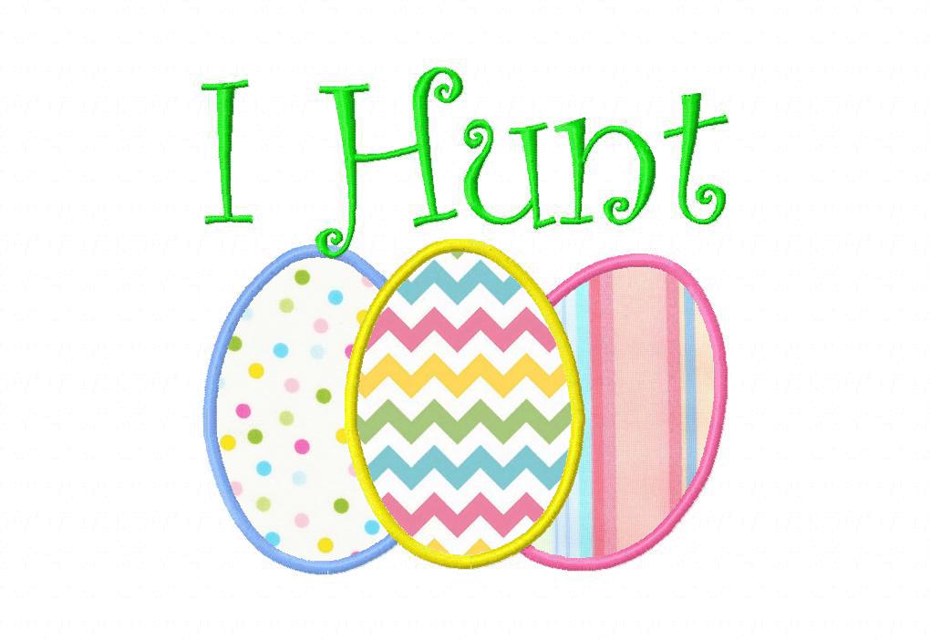 I Hunt Easter Machine Applique Design