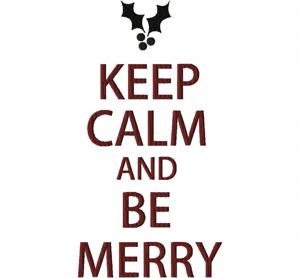 Keep Calm and Be Merry Design