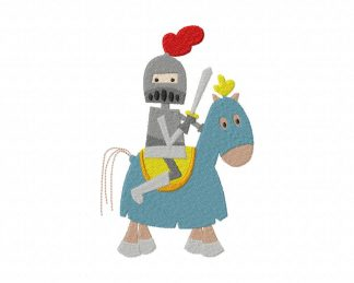 Knight on Horse Machine Embroidery Design