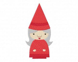 Lady Gnome Machine Embroidery Design