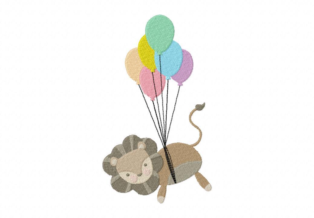Flyin Lion Machine Embroidery Design