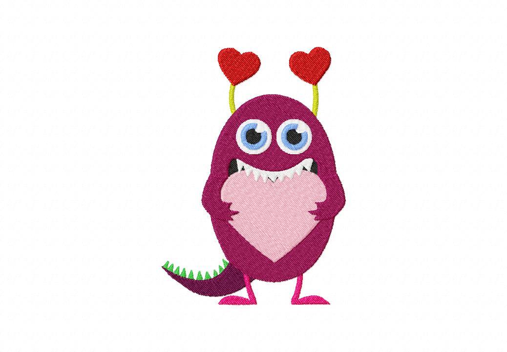 Love Monster Machine Embroidery Design