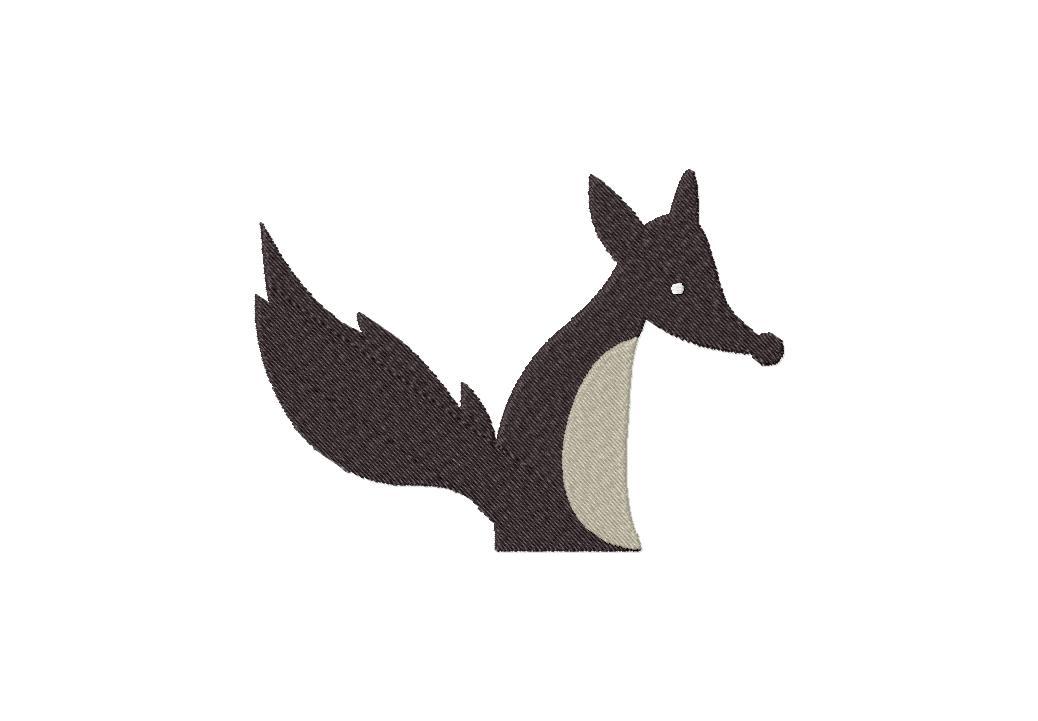 Night Fox Machine Embroidery Design