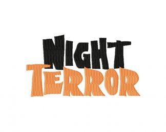 Night Terror Machine Embroidery Font Set