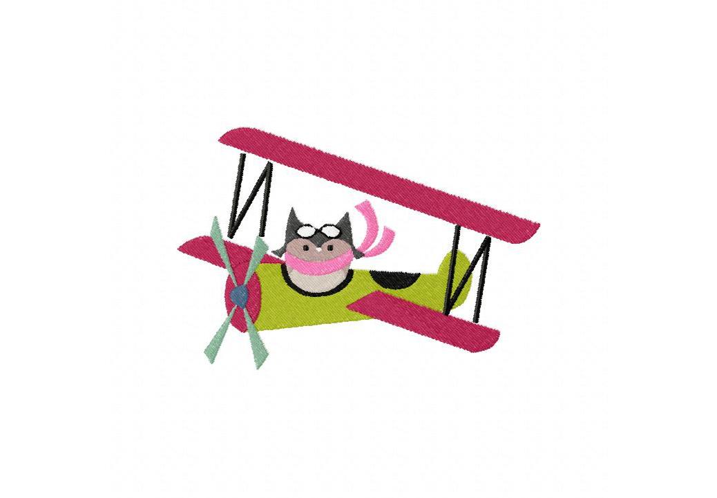 Owl Aviator Machine Embroidery Design