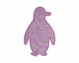 Penguin Silhouette Machine Applique Design