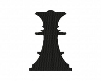 Chess Queen Machine Embroidery Design Includes Both Applique and Filled Stitch