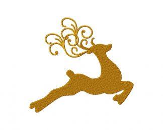 Decorative Reindeer Machine Embroidery