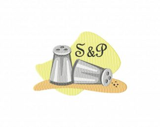 Salt and Pepper Machine Embroidery Design