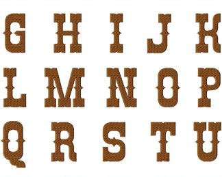 Western Style Font Set Titled The Rio