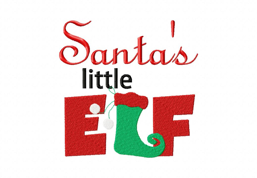 Santas Little Elf Machine Embroidery Design