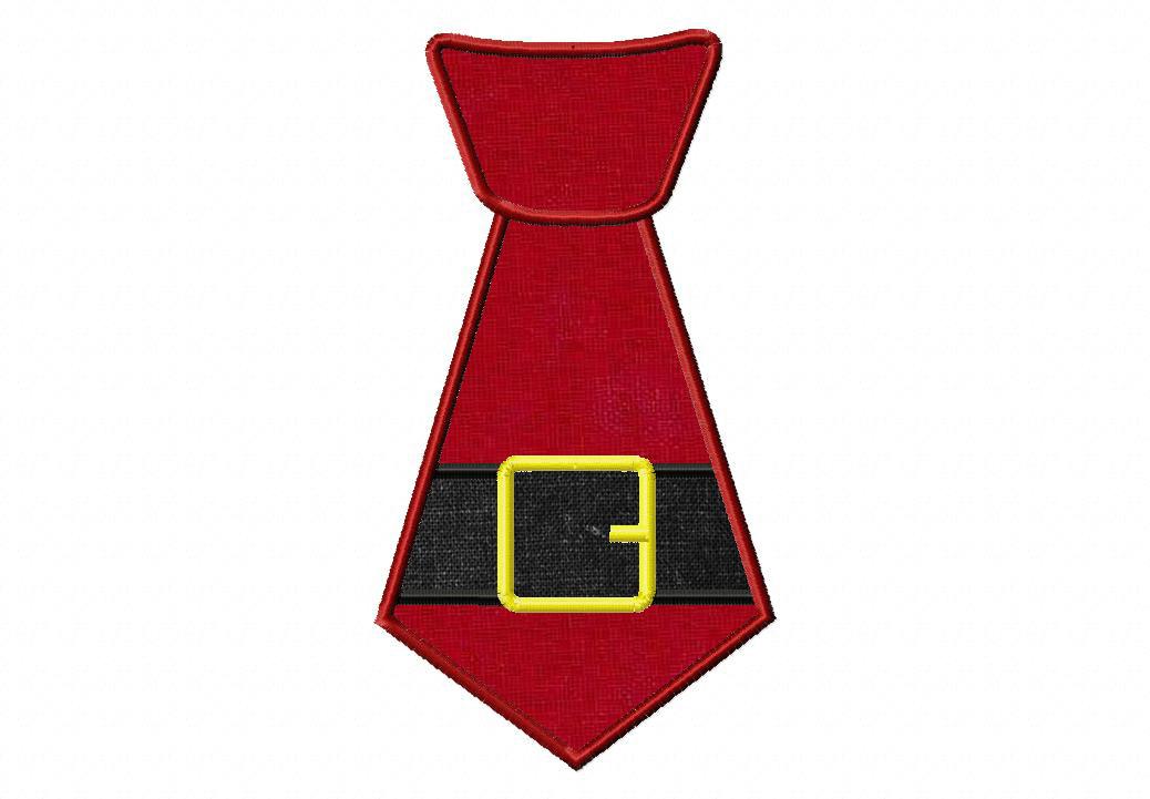 Christmas Holiday Applique Santa or Elf Tie