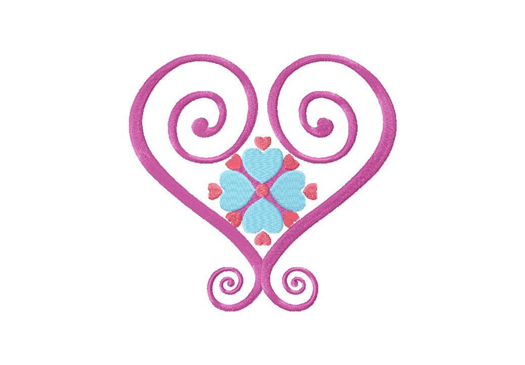 Satin Hearts Machine Embroidery Design