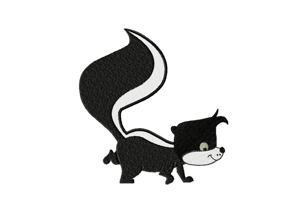 Cartoon Skunk Machine Embroidery Design Daily Embroidery